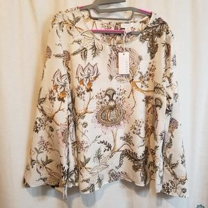 New fall floral blouse